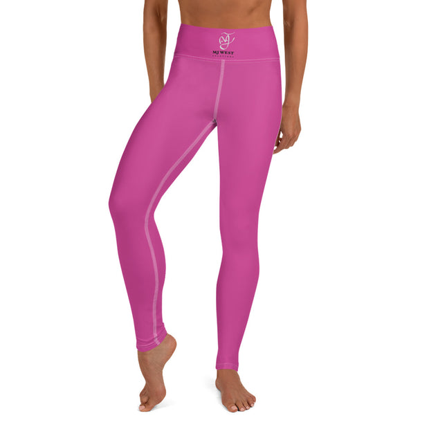 Elastic Pink Women Yoga Leggings