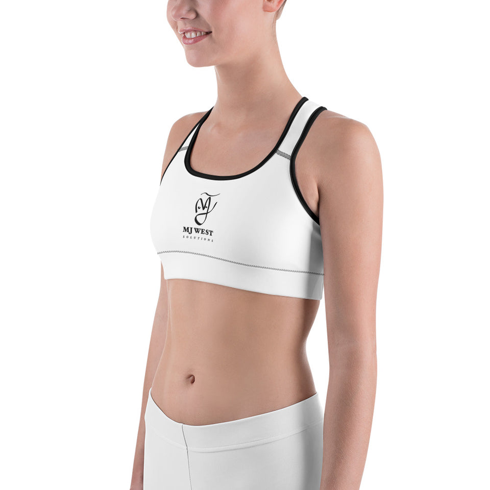 Women White Sports Bra