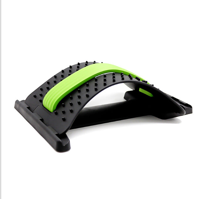 Magnetic Back Stretcher Massager Adjustable Lumbar Support Fitness Massage Equipment