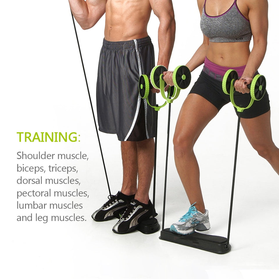 Multi-function Fitness Abs Trainer Wheel