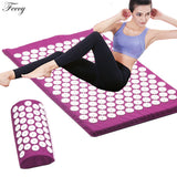 Acupressure Massager Mat Set Back Body Foot Cushion Massage Pad
