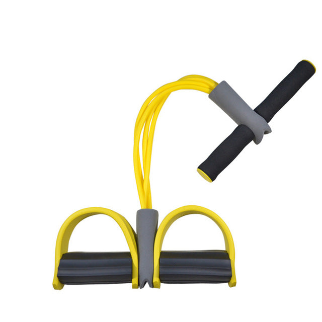 Fitness Gum 4 Tube Resistance Bands Latex Pedal Exerciser Sit-up Pull