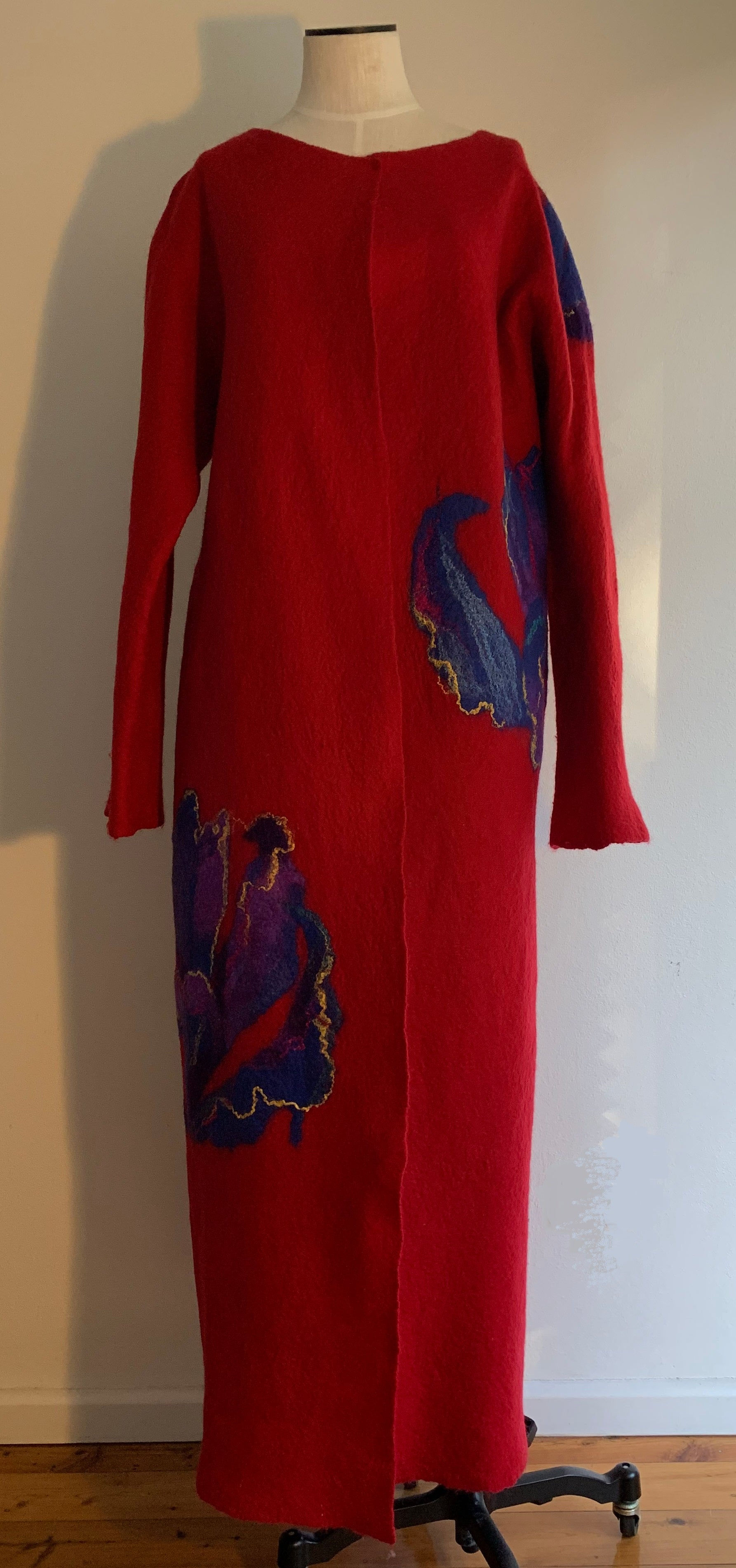 Merino Wool Felted Coat by Vera Alexanderova
