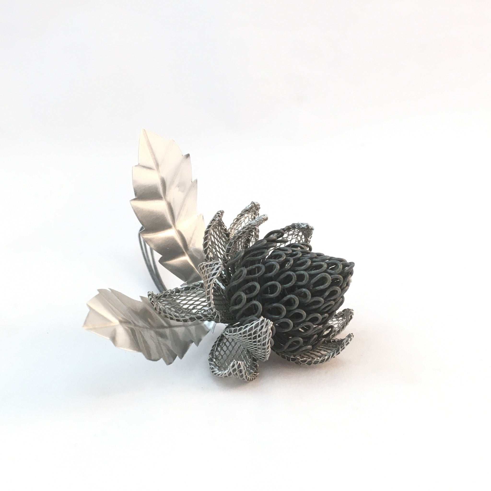 wire waratah by Natalie Fong