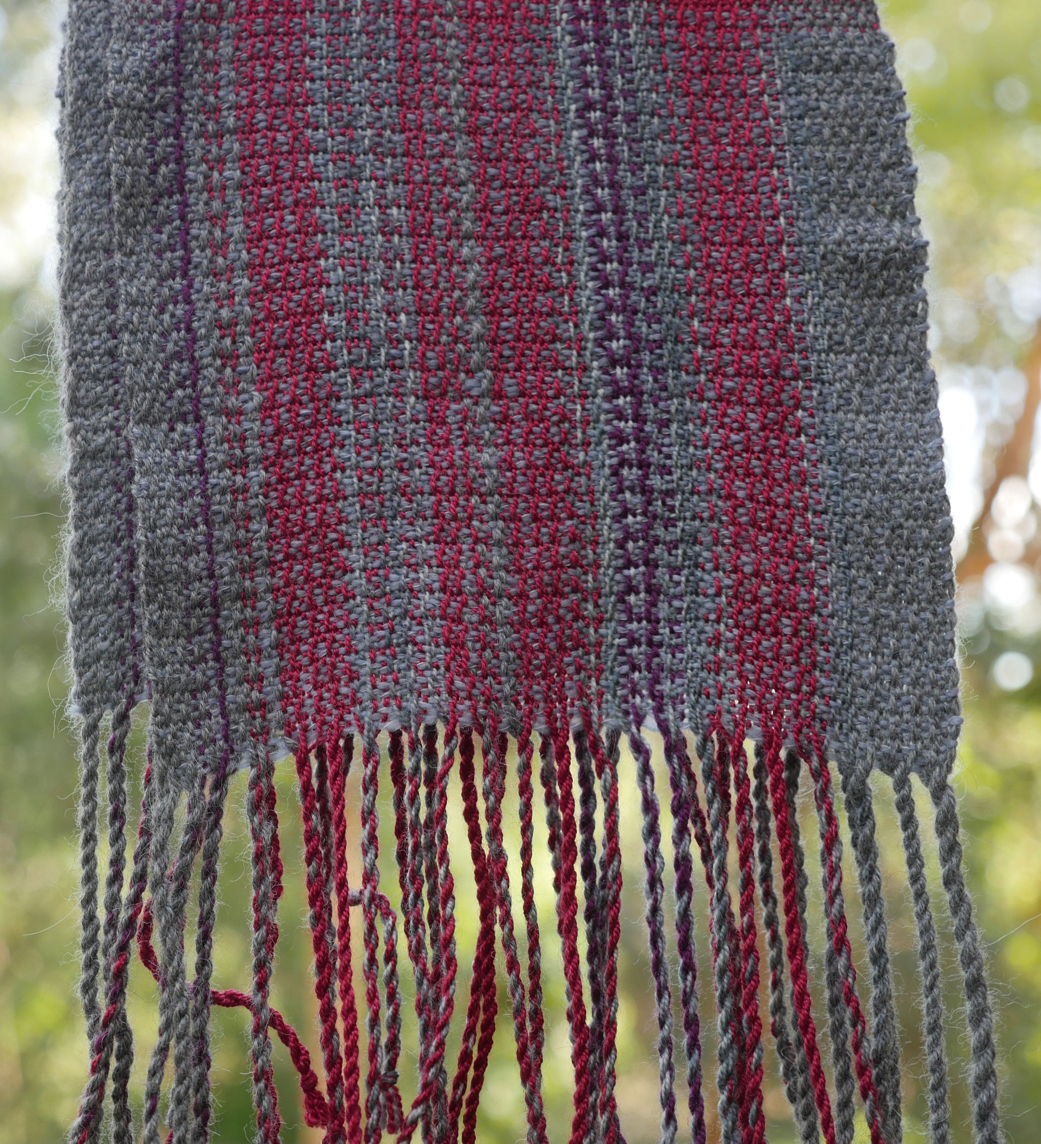 Hand woven scarf for man or woman by Vicki Lowery
