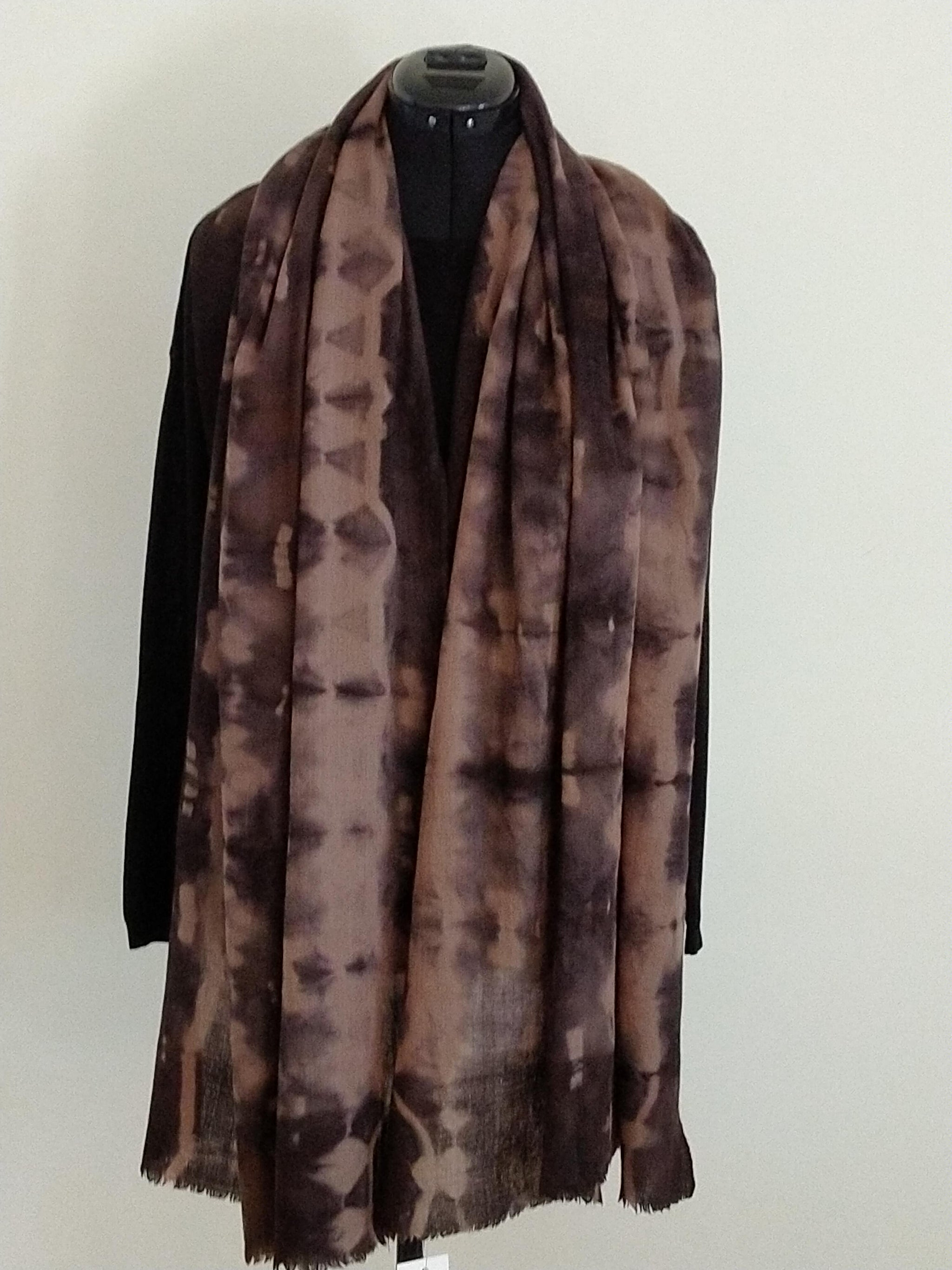 Cosy Pashmina shawl hand dyed by Neelam Singhal