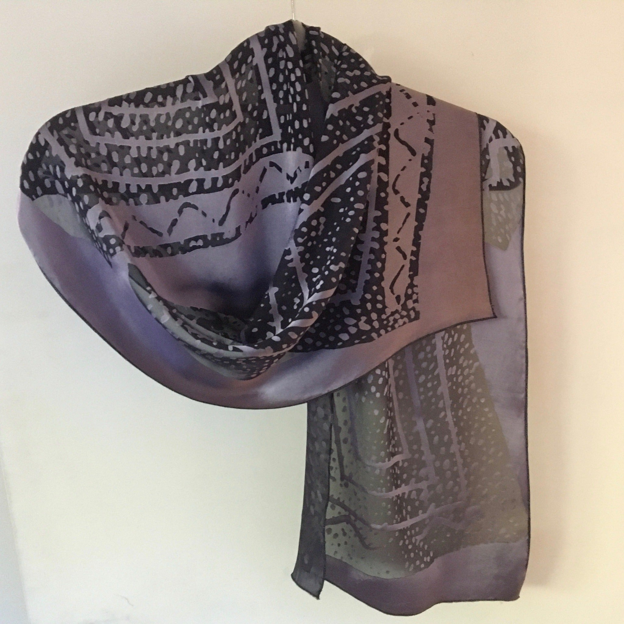 Devore silk scarf by Carolyn Cabena