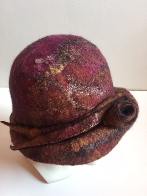 Felted hat by Pam de Groot