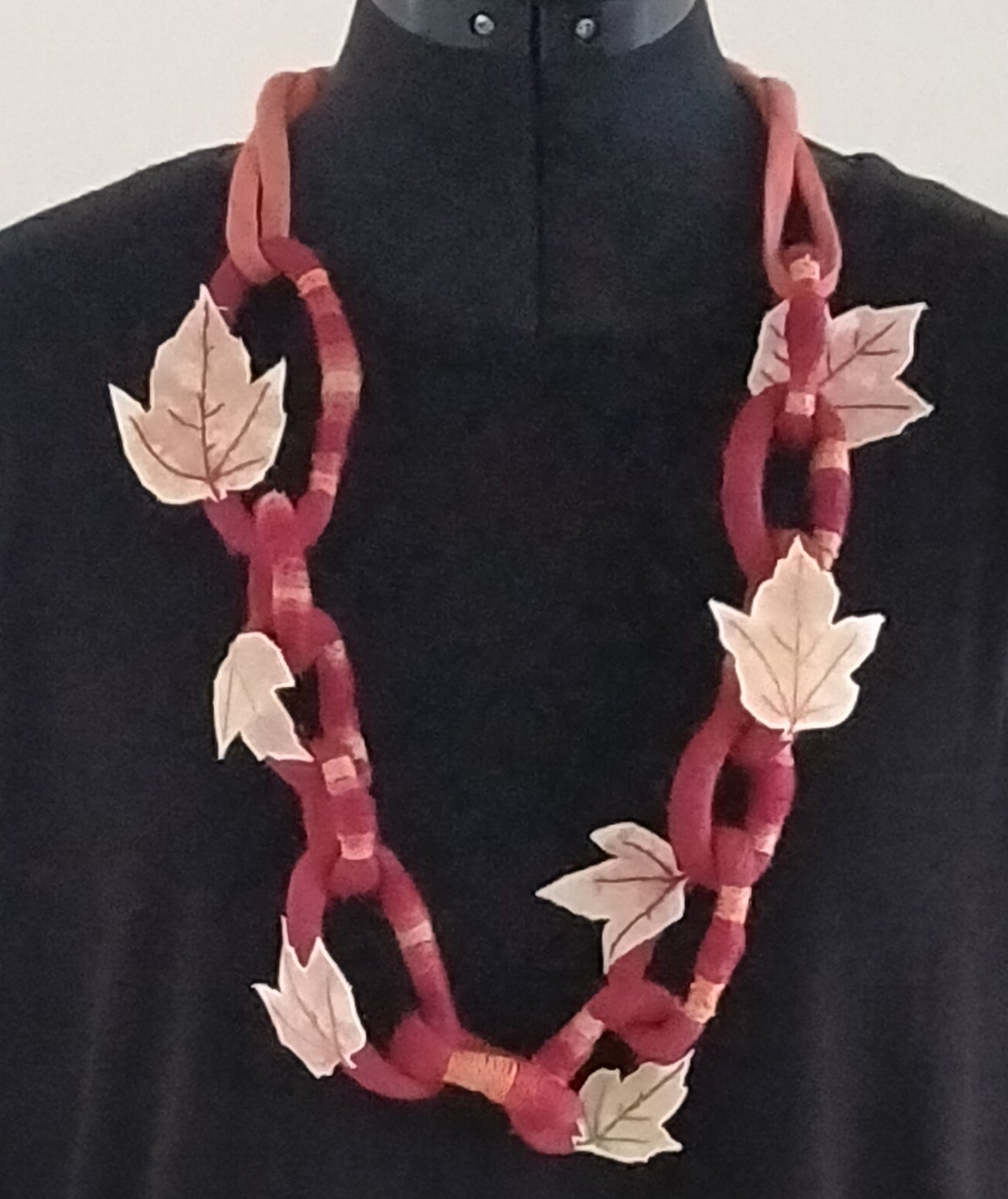 Silk Chain Necklace handmade by Neelam Singhal