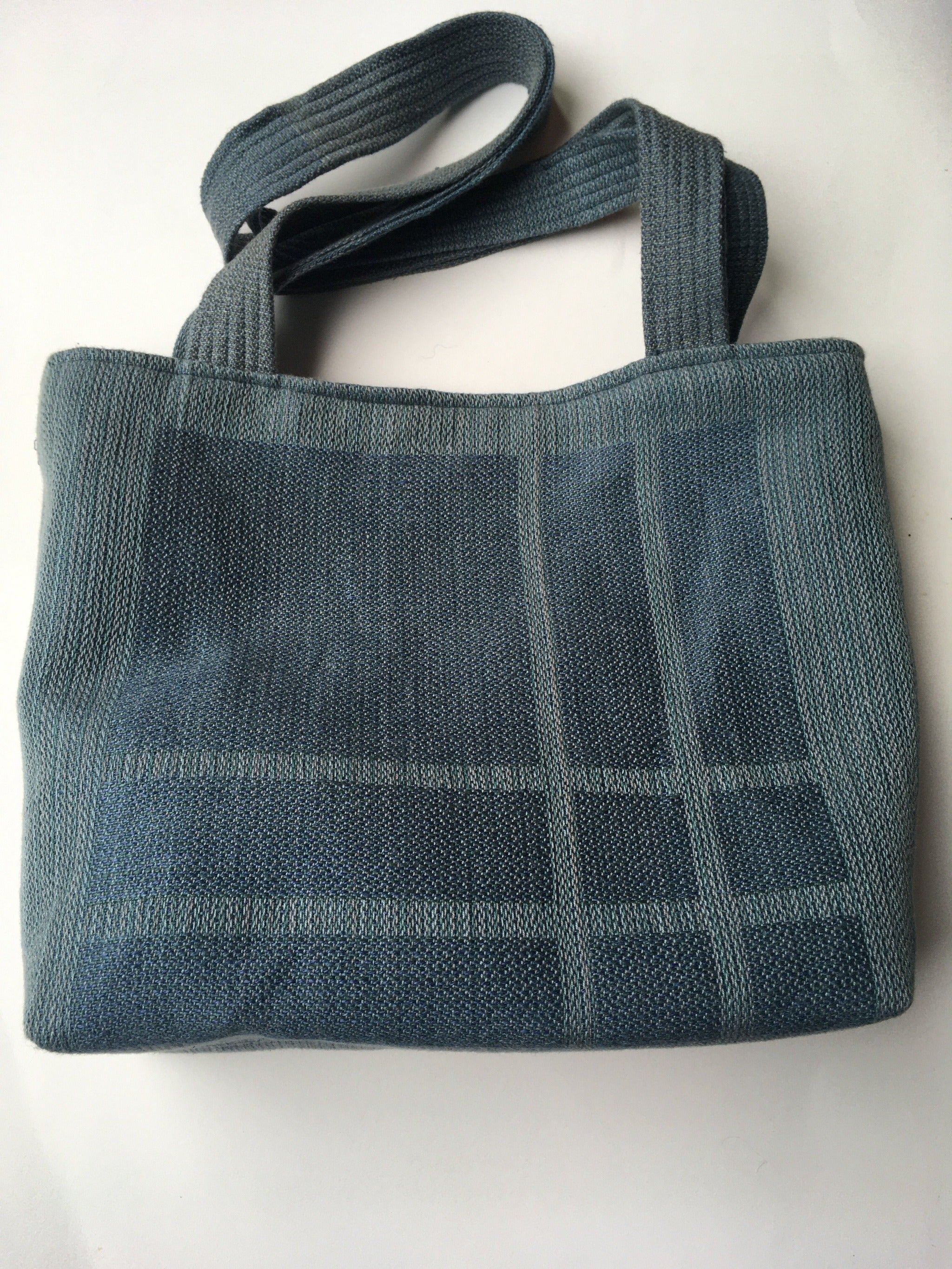 Bag handwoven by Helen Frostell