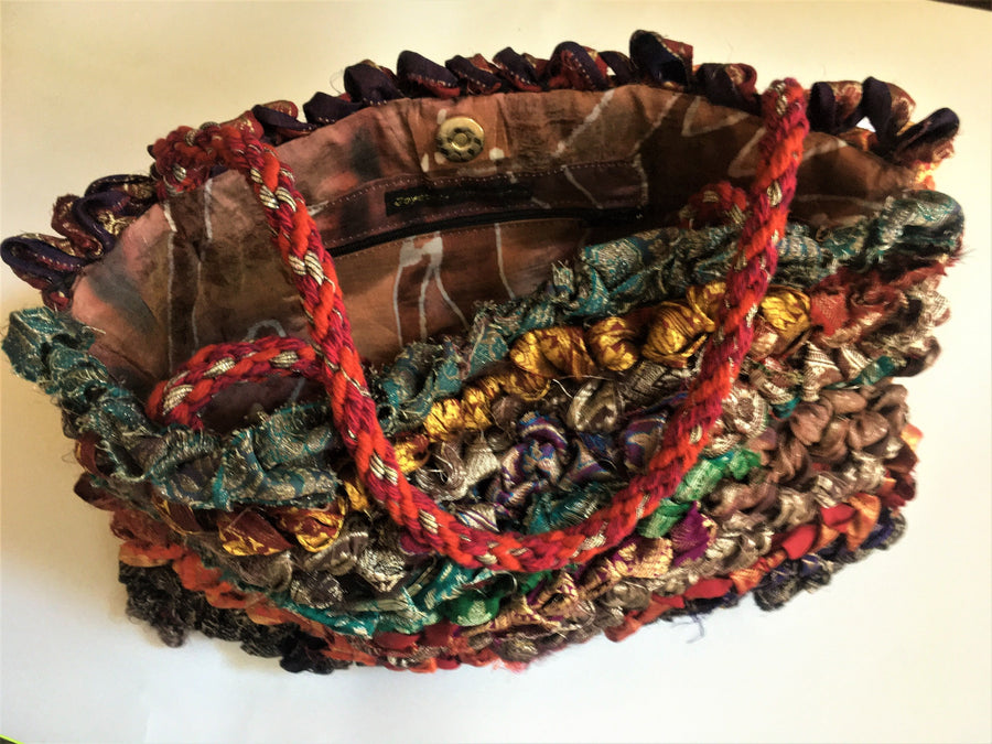 Handwoven handbag by Joy Dodd