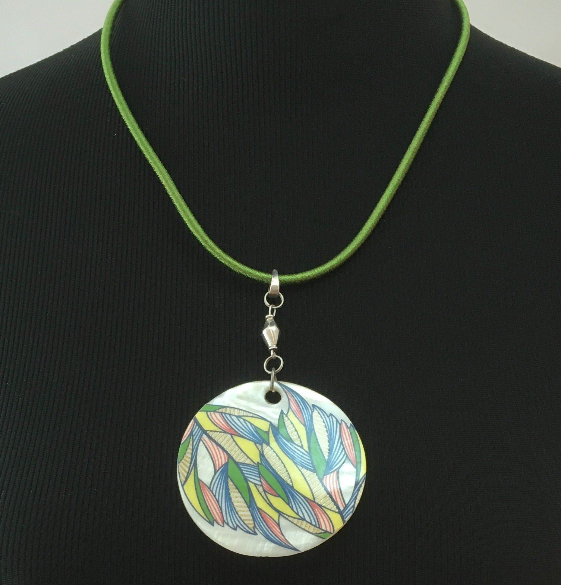 Decoupage pendant by Marlies Benjamin