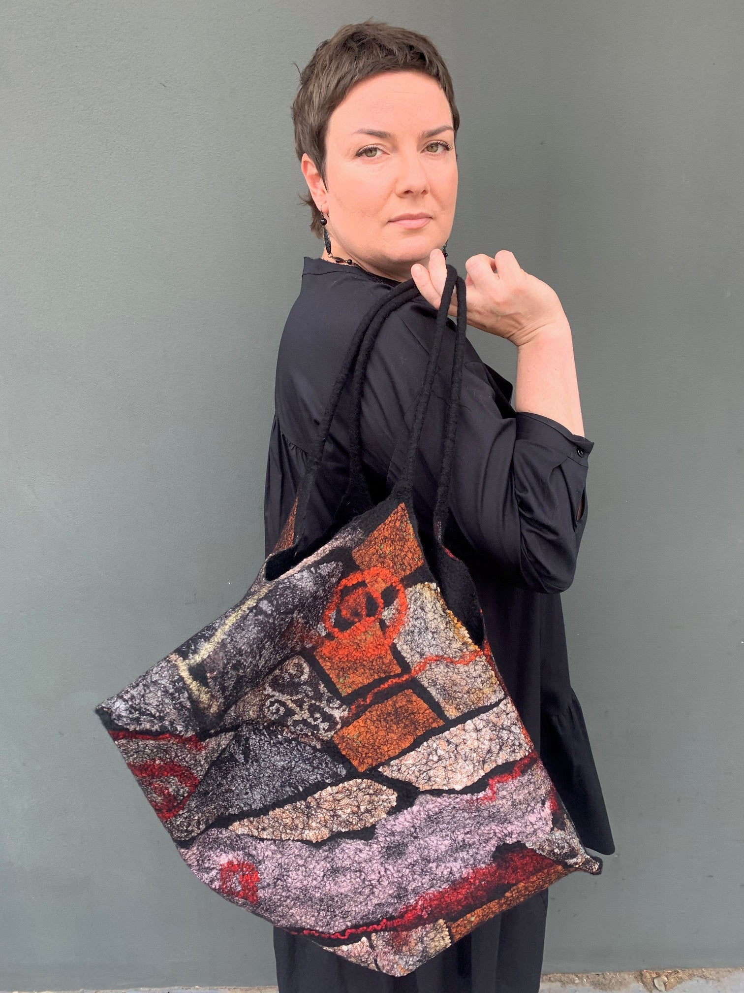 *Nuno felted bag with Vera Alexanderova 18th April