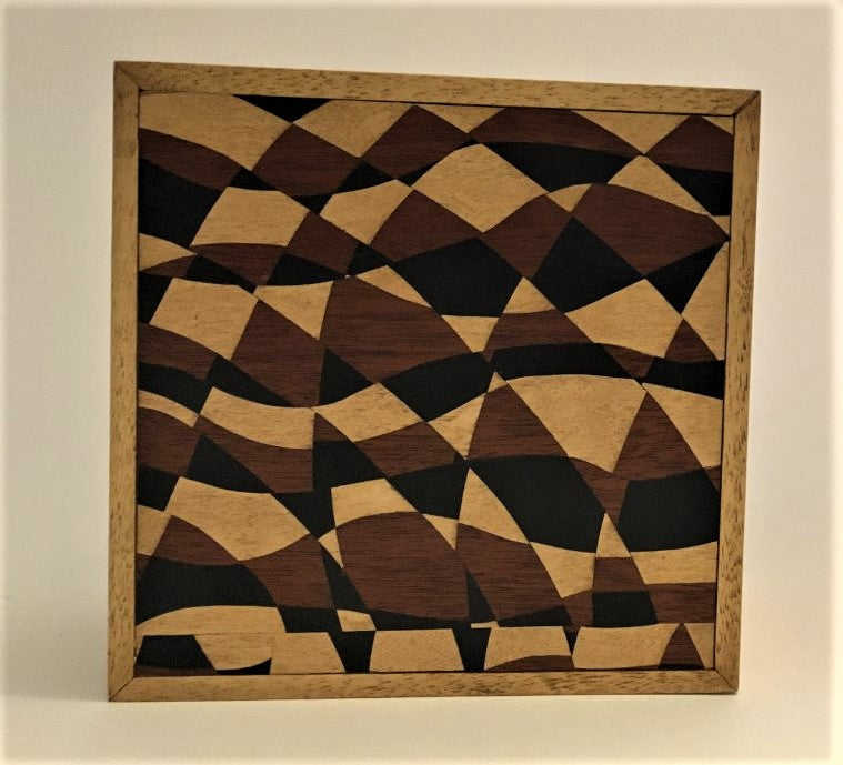 "Handmade Marquetry box, ""Tic-Tac"" by Jo Ann Hopkins"