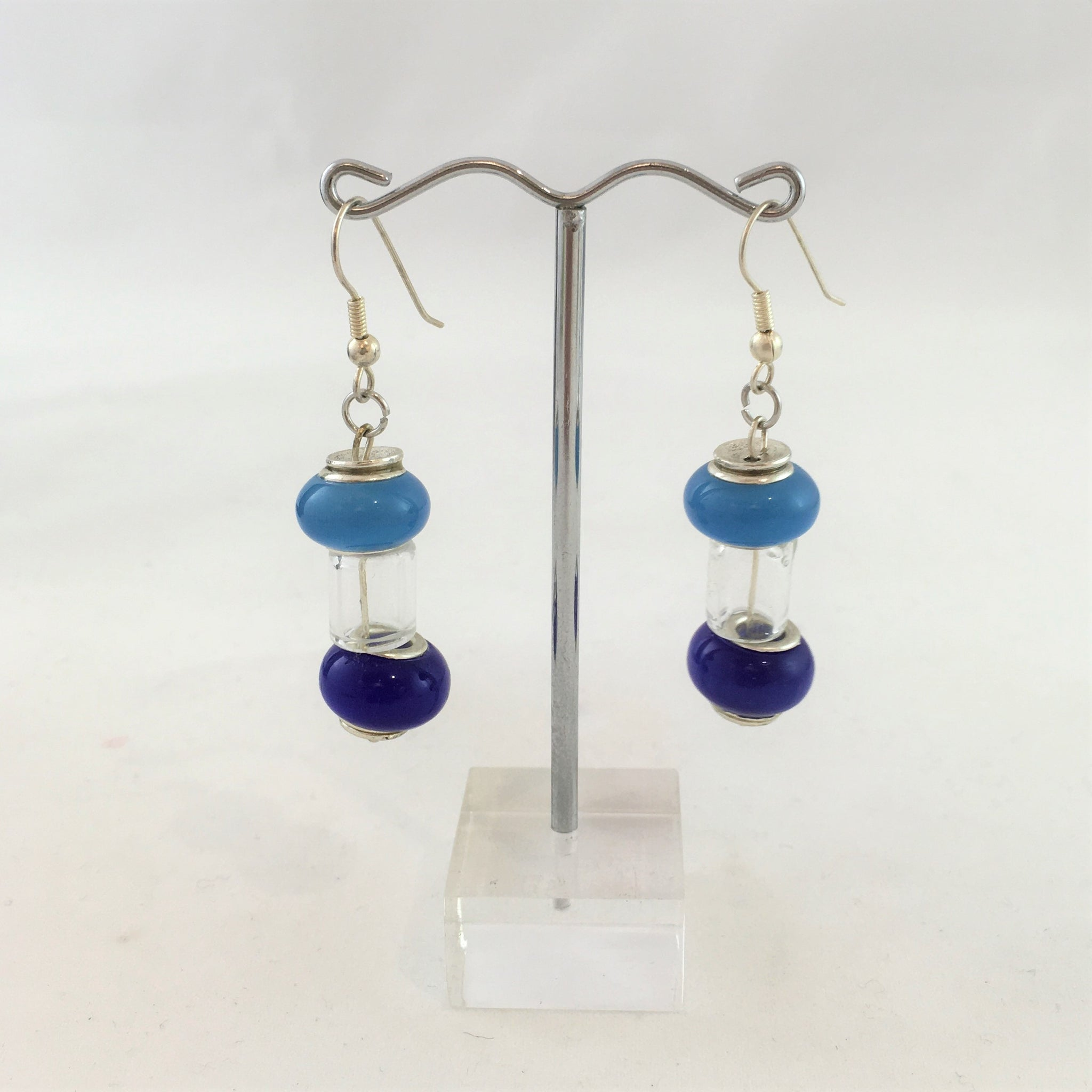 Glass earrings at Craft NSW