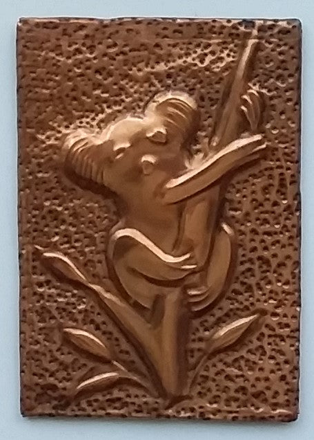 Fridge magnet in copper by Gwen Gibb