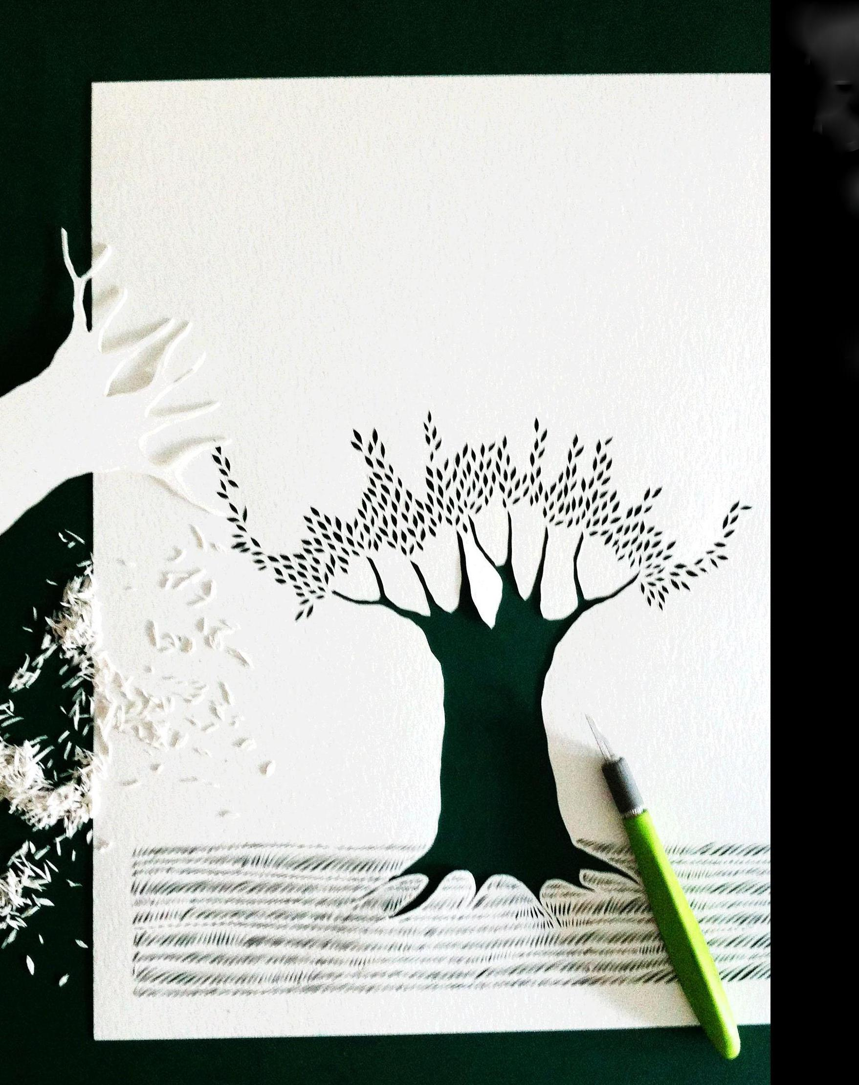 * Life Expressions in Papercuts With Miguel Castro 14th  March 1 Day