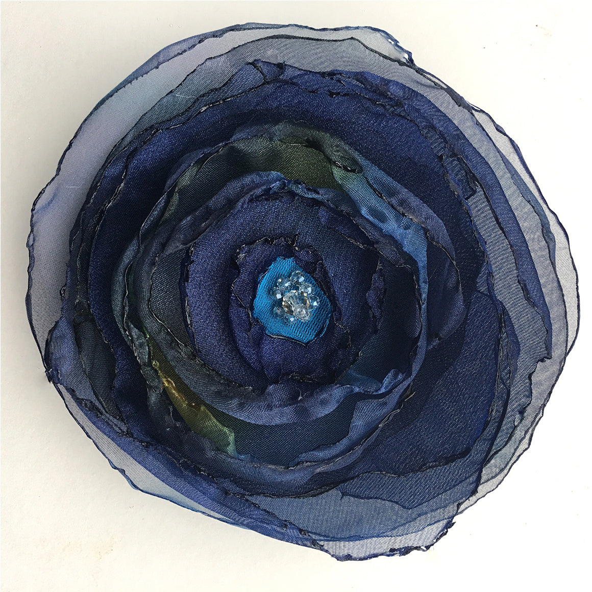 Imaginary Flower Brooch hand made by Yaja Hadrys