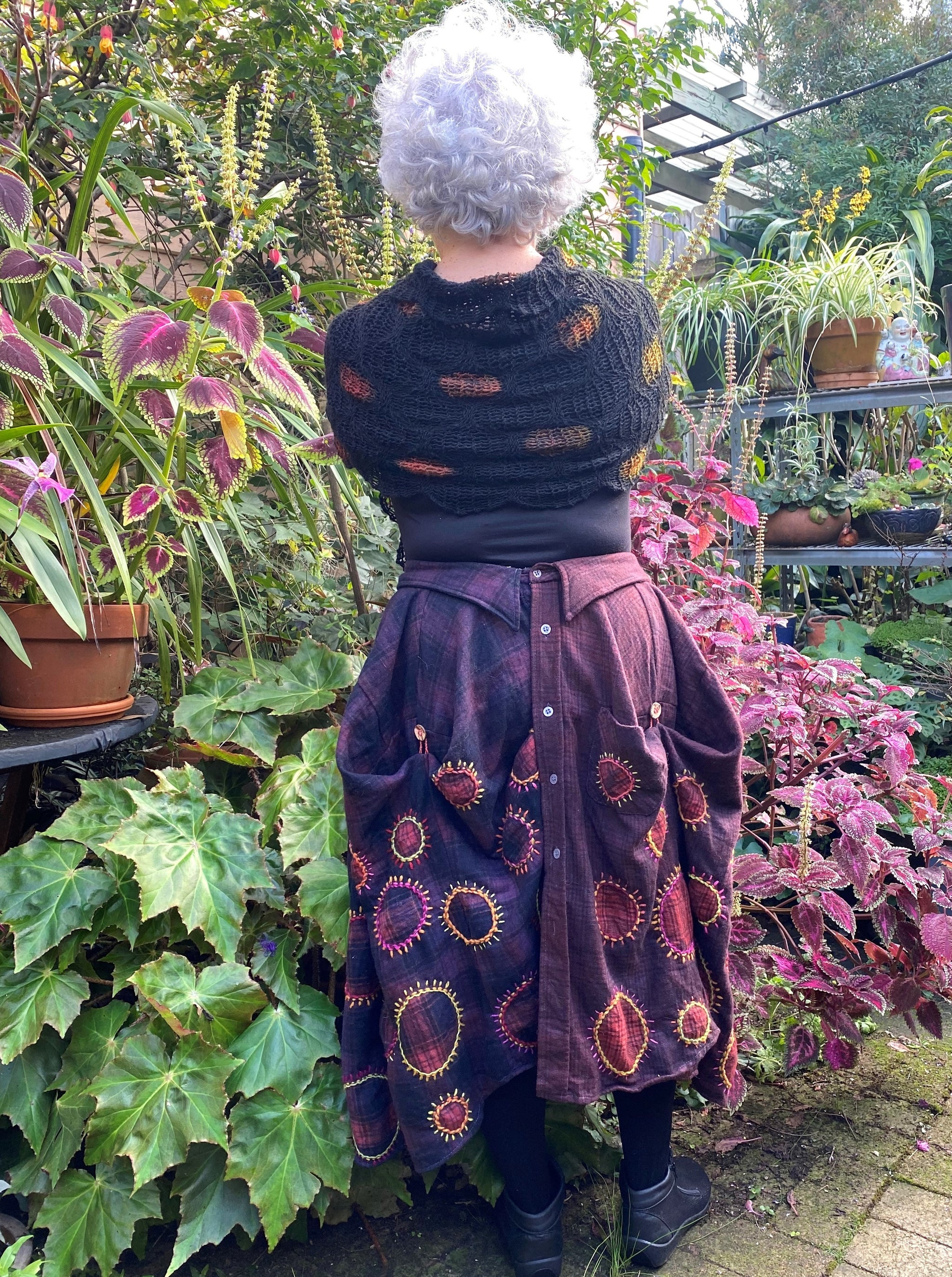 Cosy Skirt/shirt handmade by Liz Gemmell