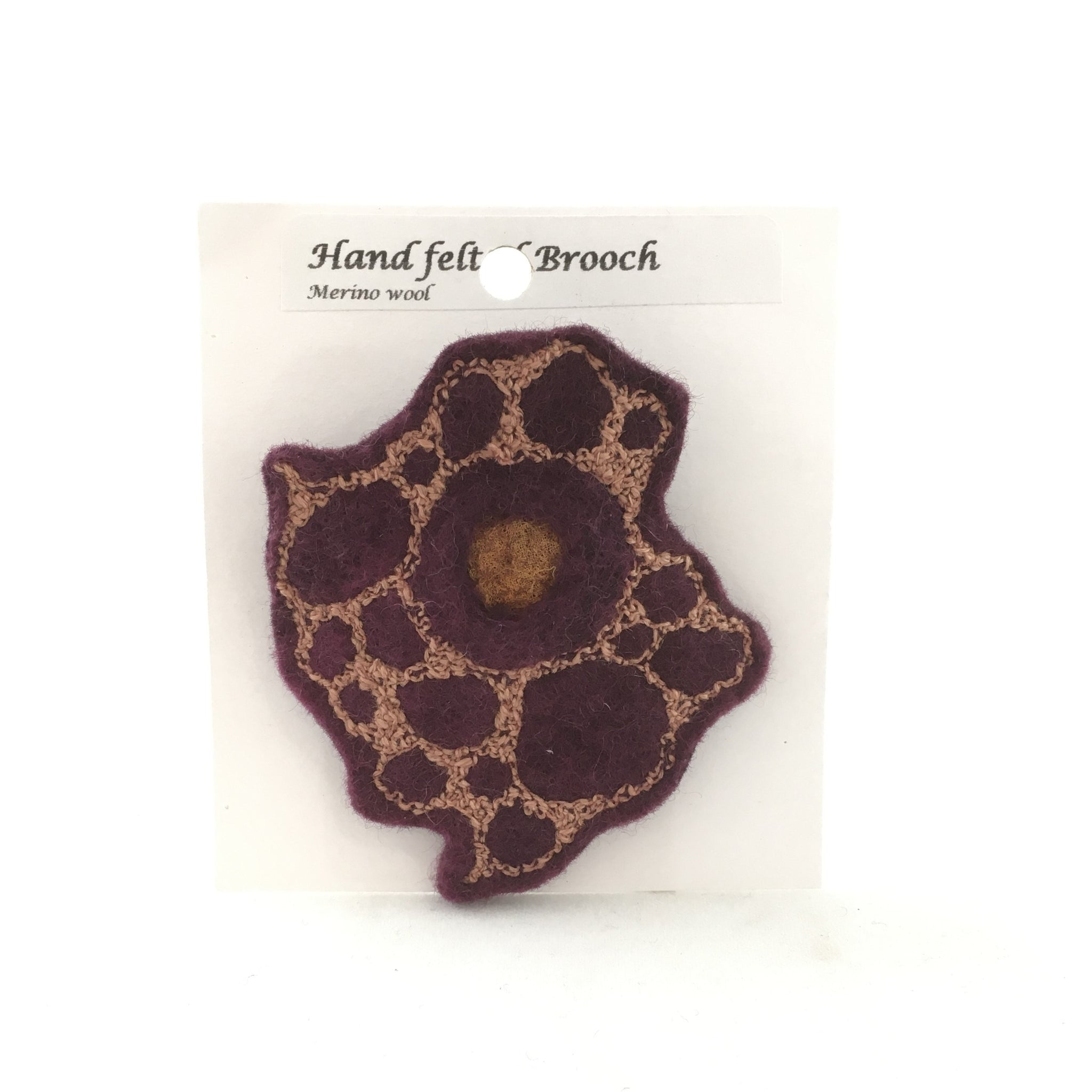 Felted brooch by Helen Macritchie
