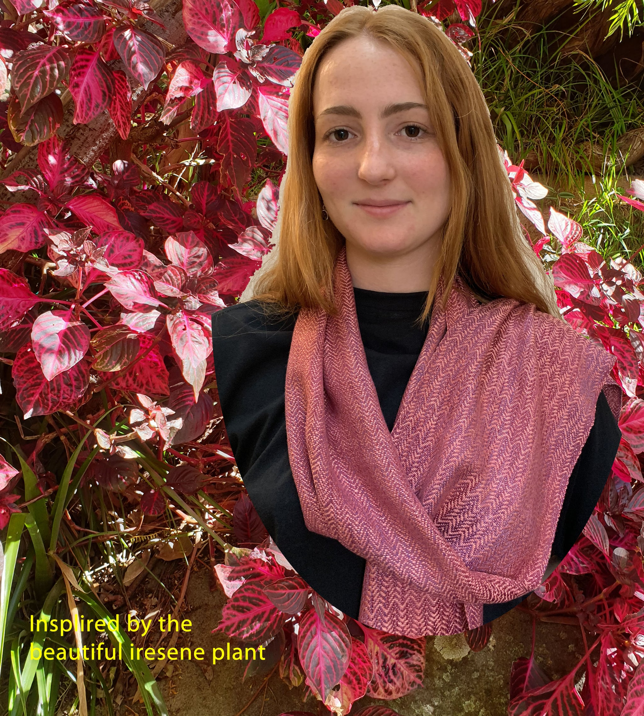 Silk scarf hand-dyed and handwoven by Vicki Lowery