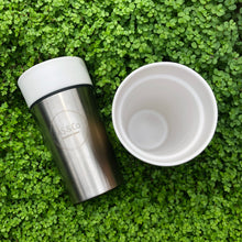 Load image into Gallery viewer, Ceramic Stainless Steel Mug Tea Coffee Travel Takeaway Cup Sustainable Eco Gold Silver