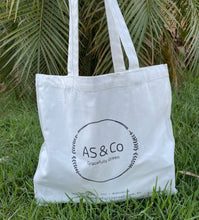 Load image into Gallery viewer, AS & Co Logo Small Cotton Tote Shopping Day Bag