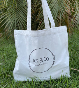 AS & Co Logo Small Cotton Tote Shopping Day Bag