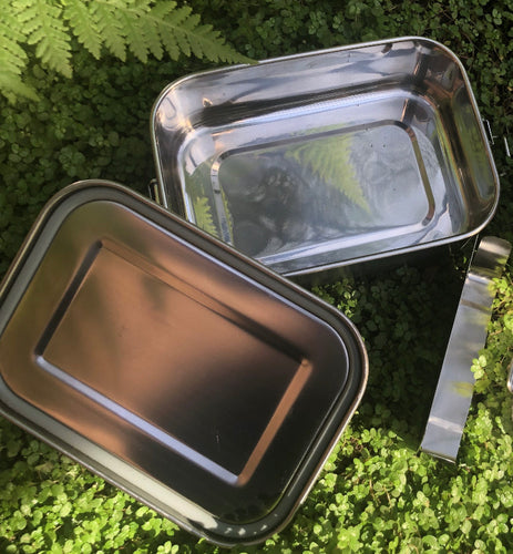 800ml Leak-Proof Stainless Steel Lunch Box with Removable Divider