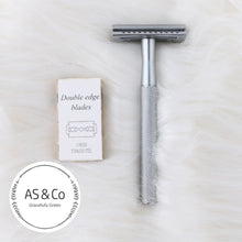 Load image into Gallery viewer, Double Edge Reusable Safety Razor - Matte Silver