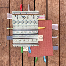 Load image into Gallery viewer, Handmade Baby Tag Blanket - Made From Recycled Materials