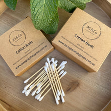 Load image into Gallery viewer, Cotton Buds With Bamboo 200 Pack with Compostable Packaging