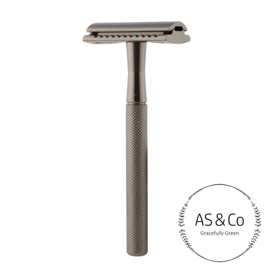 Double Edge Reusable Safety Razor - Matte Black