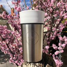 Load image into Gallery viewer, Ceramic and Stainless Steel Takeaway Reusable Cup 450ml