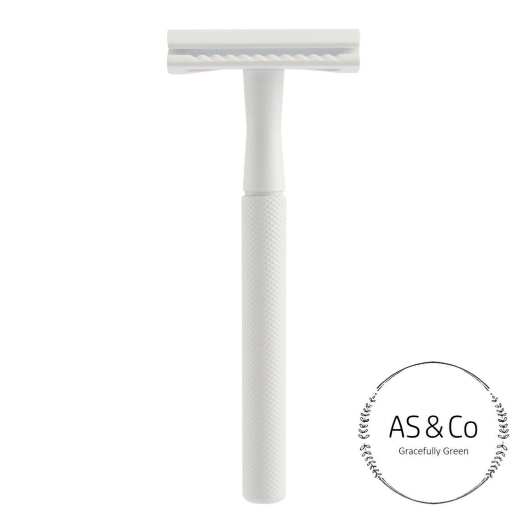 Double Edge Reusable Safety Razor - Matte White