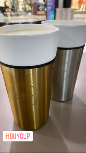 Ceramic and Stainless Steel Takeaway Reusable Cup 450ml