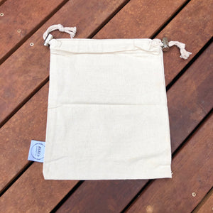Organic Cotton Reusable Produce Fruit Veggie Bags - Mesh and Solid Weave