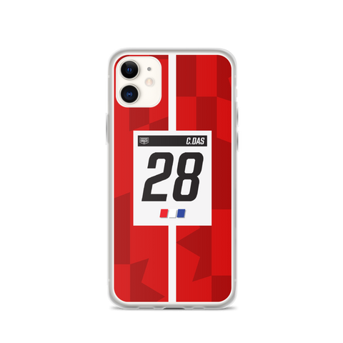 DRUCK CAM DAS #28 LIVERY STRIPE IPHONE CASE - RED