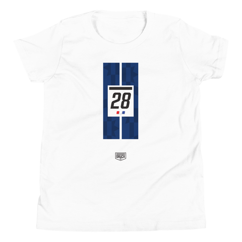 Druck Cam Das #28 Livery Stripe Unisex Youth T-Shirt