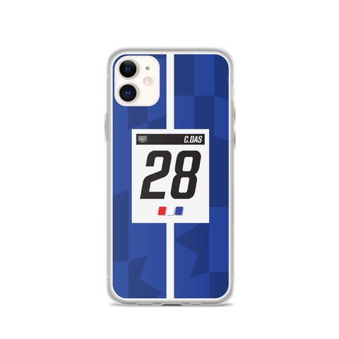 DRUCK CAM DAS #28 LIVERY STRIPE IPHONE CASE - BLUE