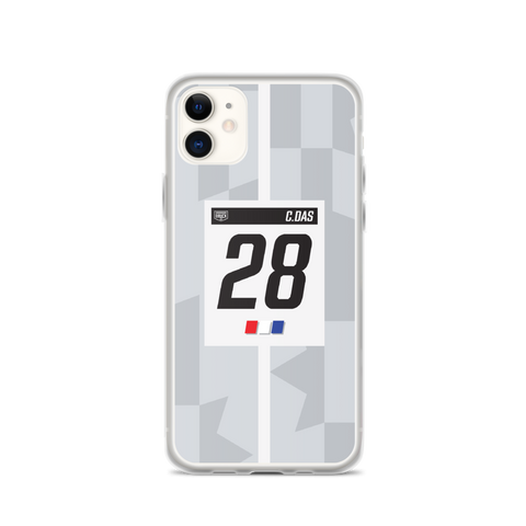 DRUCK CAM DAS #28 LIVERY STRIPE IPHONE CASE - WHITE