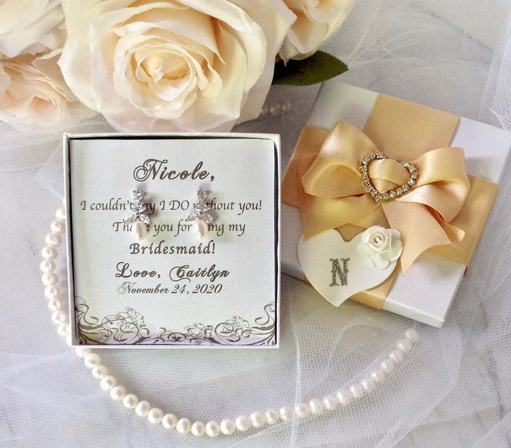 Wedding - Bridesmaids Jewelry Gifts - Earrings, bracelets, necklaces, jewelry sets and more