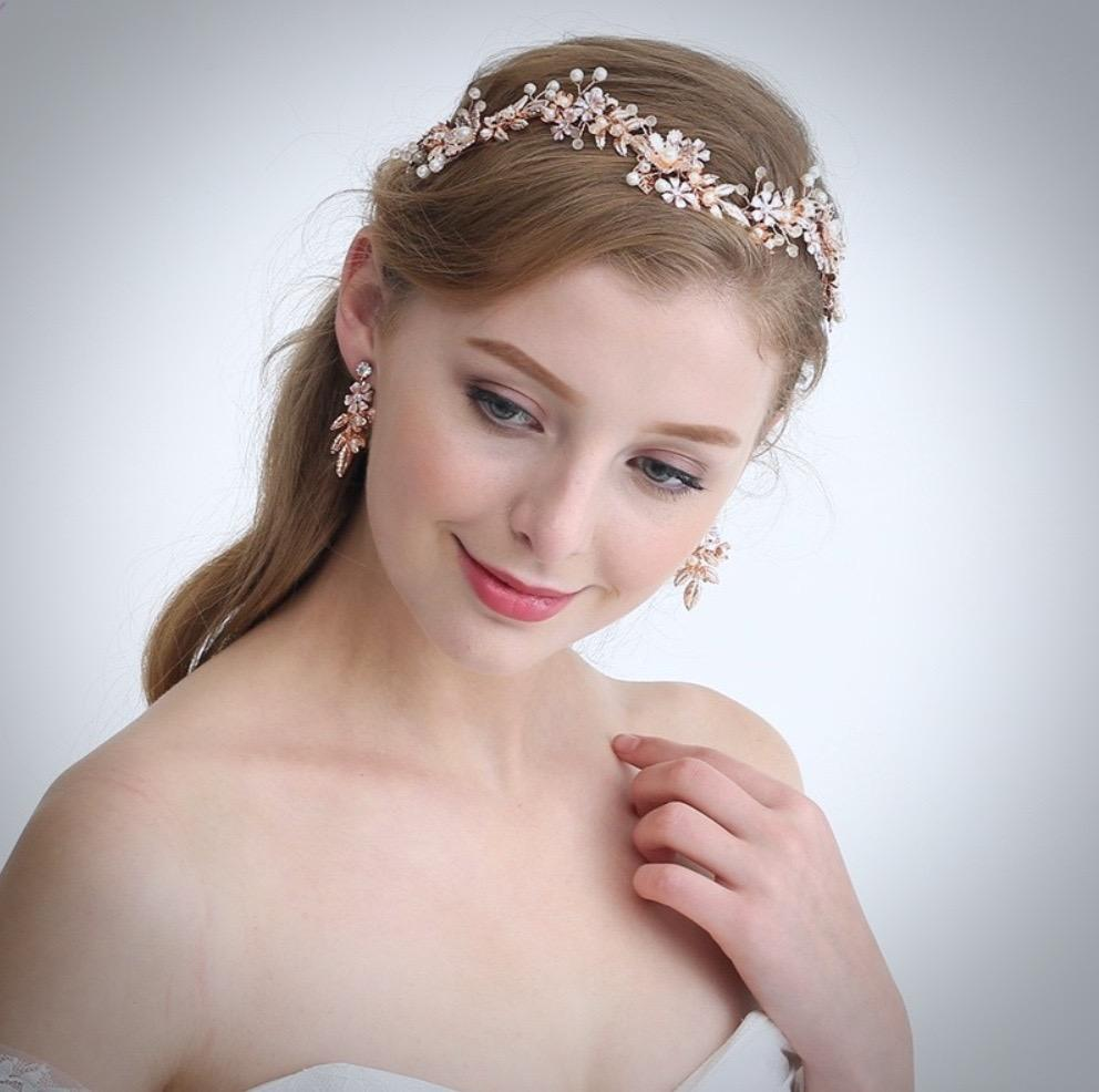 Wedding - Rose Gold Bridal Jewelry and Accessory Collection