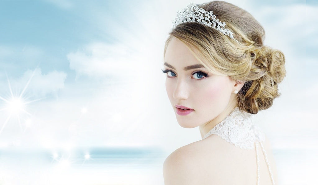 Bridal Wedding Jewelry Veils Garters Bracelets Earrings Tiaras and More