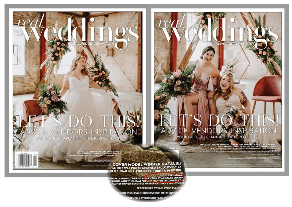 ADORA by Simona | Featured on the cover of Real Weddings Magazine Fall 2020 Edition