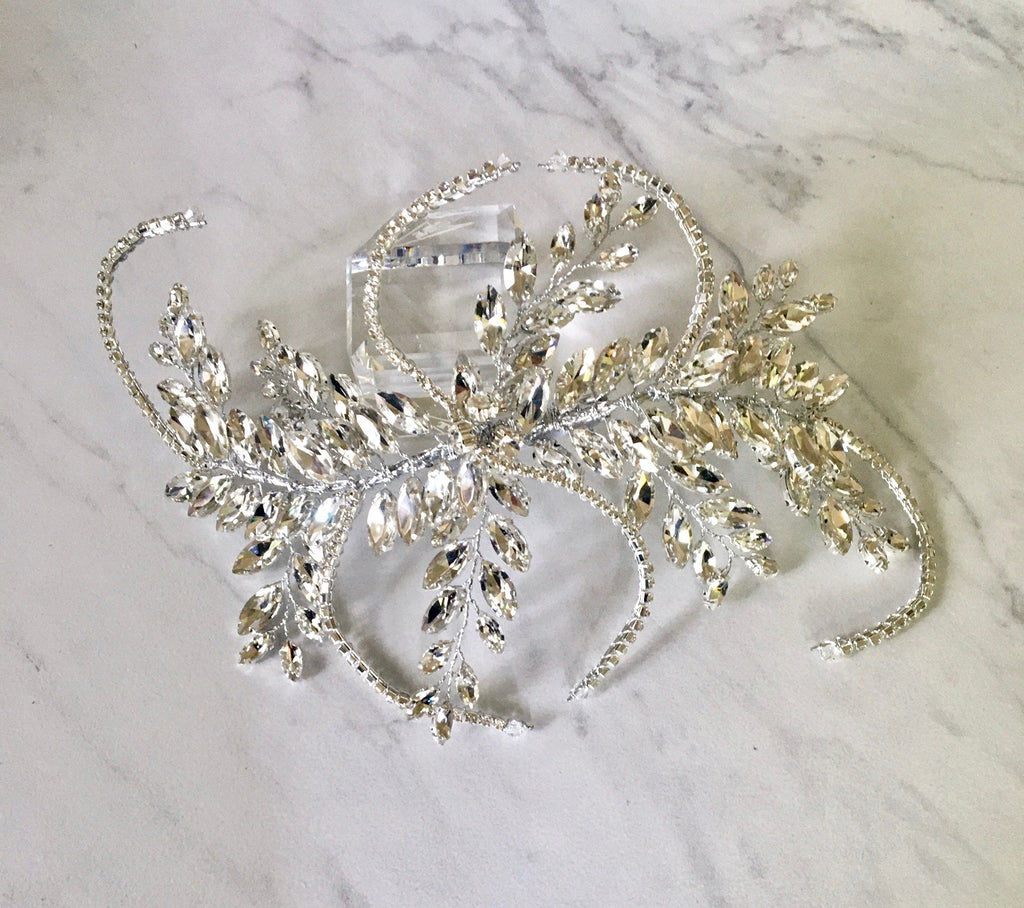 Wedding Hair Accessories - 1920s Style Silver Bridal Hair Accessory