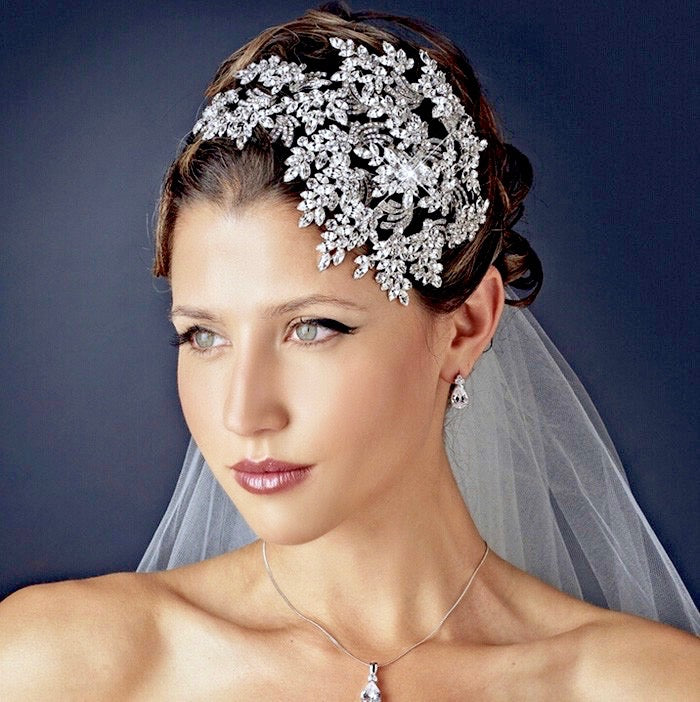 Wedding Hair Accessories - 1920s Style Crystal Bridal Hair Accessory