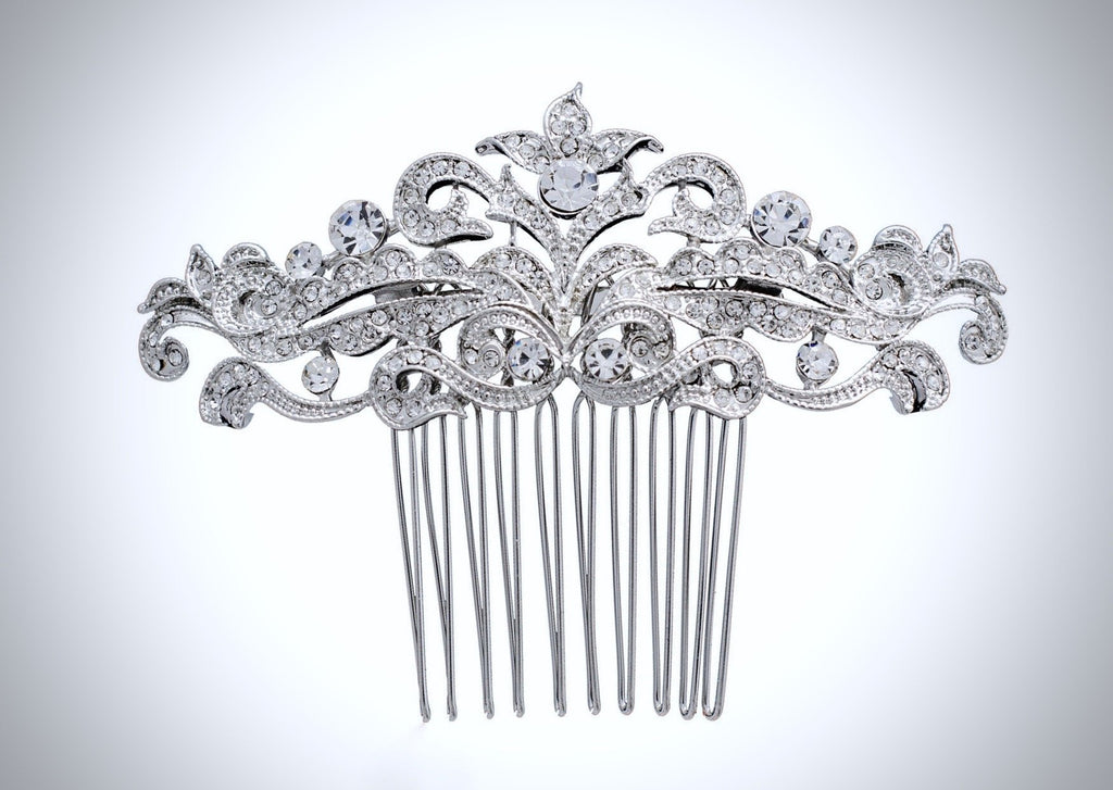 """Jada"" - Crystal Bridal Hair Comb"