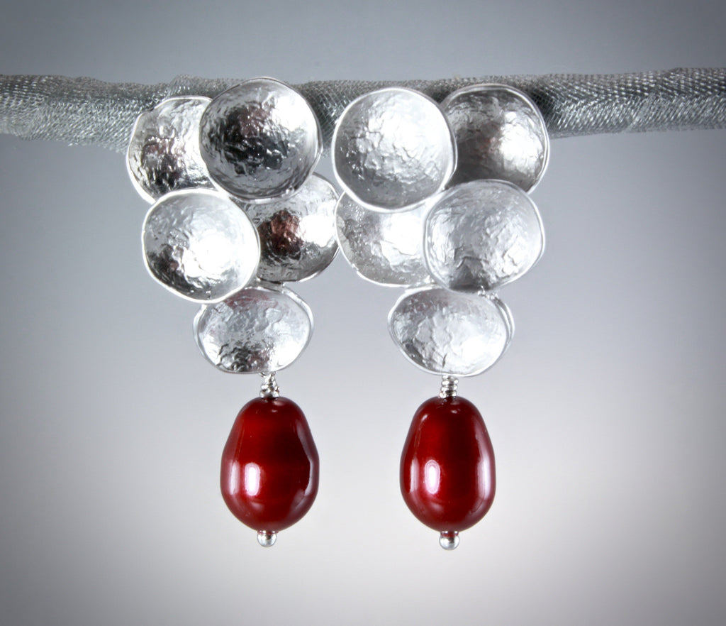 """Scarlet"" - Swarovski Crystal Pearl Earrings"