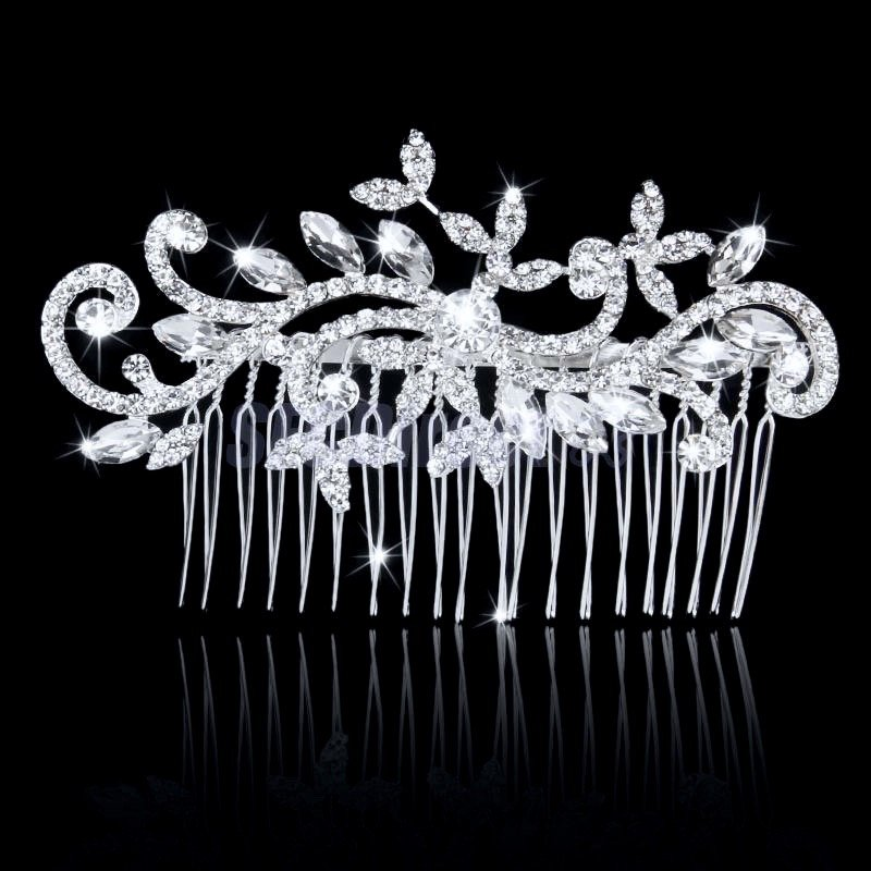 """Lucille"" - Crystal Bridal Hair Comb"